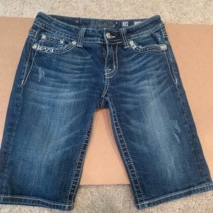 Miss Me Embellished Bermuda Shorts, Size 28